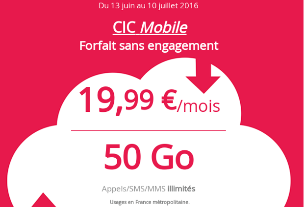 Promotion de la CIC Mobile