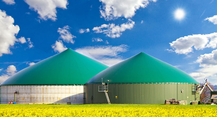 Une installation de production de biométhane dans un champ