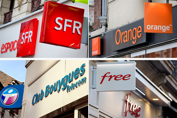 Orange Bouygues Free SFR
